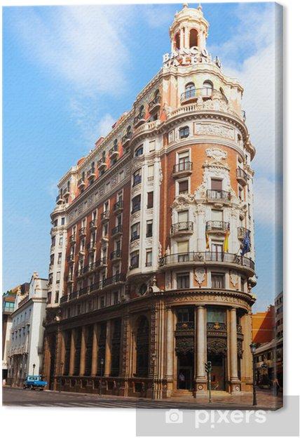 Cuadro en Lienzo Vista de Valencia Edificio del Banco de Valencia, España - Temas