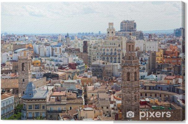 Cuadro en Lienzo Vista del centro histórico de Valencia - Urbano