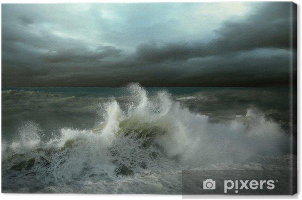 Cuadro en Lienzo Vista del paisaje marino tormenta - Desastres naturales
