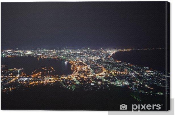 Cuadro en Lienzo Vista nocturna desde el Monte Hakodate (函館 山 か ら の 夜景) - Asia