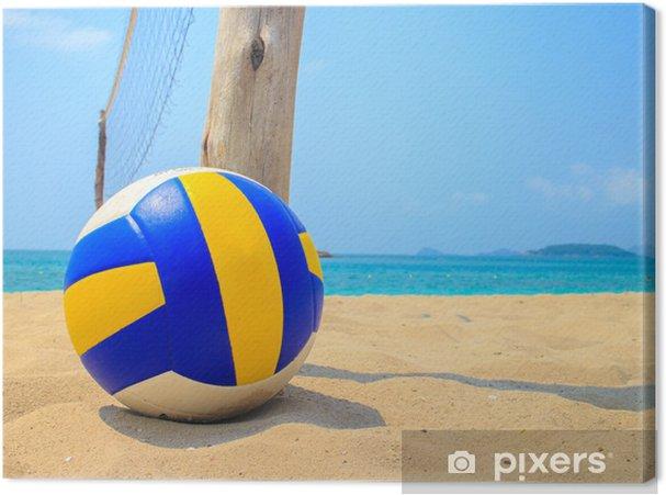 Cuadro en Lienzo Voleibol en la arena - Voleibol