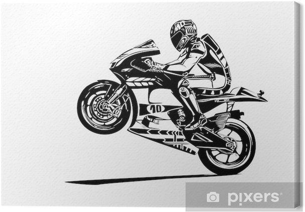 Cuadro en Lienzo Wheelie moto gp - Vinilo para pared