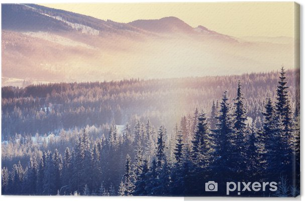 Cuadro en Lienzo Winter mountains - Estaciones