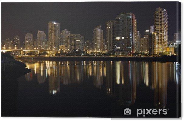 Cuadro en Lienzo Yaletown reflexiones de la noche, Vancouver - América