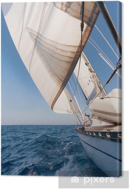 Cuadro en Lienzo Yate de la navegación en la carrera - Temas