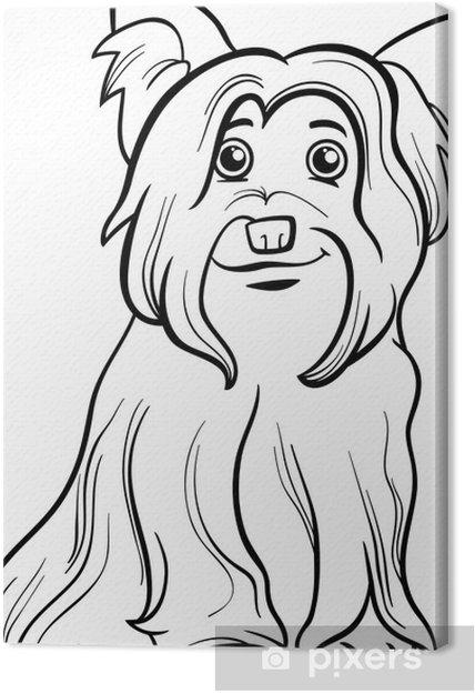 Cuadro en Lienzo Yorkshire terrier libro para colorear perro ...