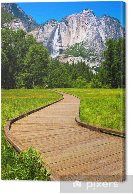 Cuadro en Lienzo Yosemite Falls en el Parque Nacional Yosemite, California - América