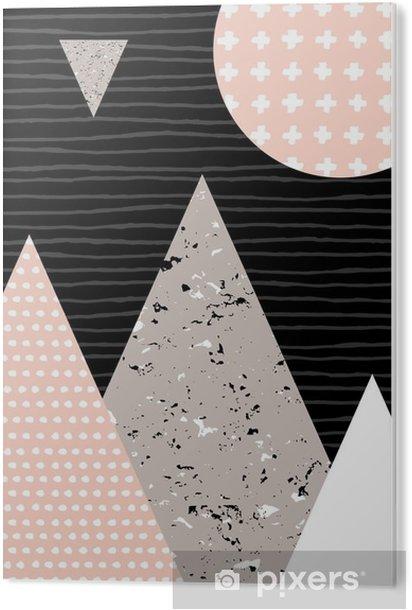Cuadro en Metacrilato Paisaje abstracto geométrico - Recursos gráficos