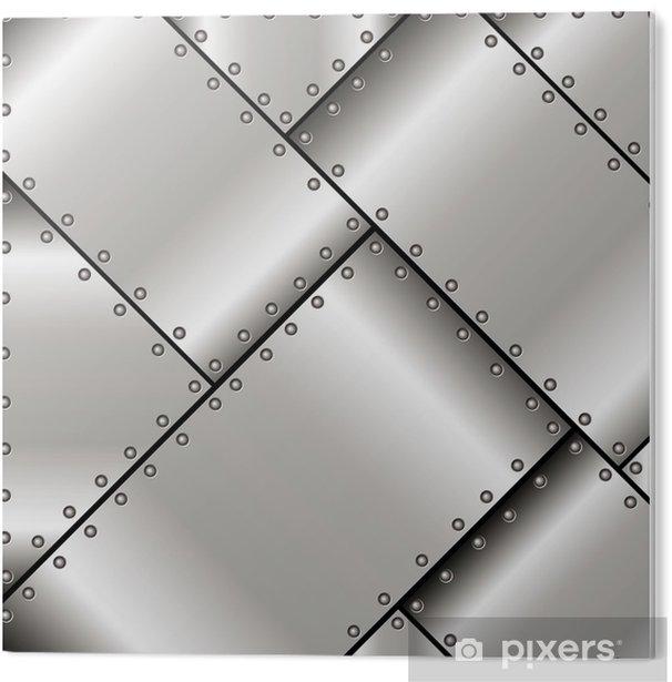 Cuadro en PVC Antecedentes de placas de metal - Estilos