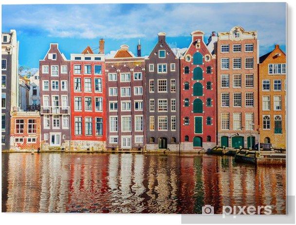 Cuadro en PVC Casas en amsterdam - Viajes