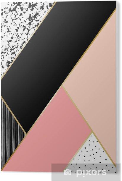 Cuadro en PVC Composición geométrica abstracta - Recursos gráficos