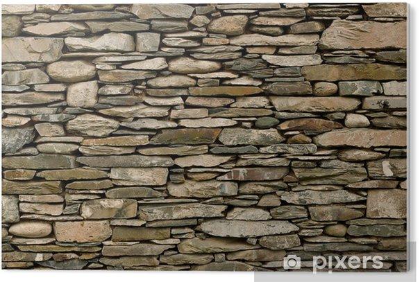Cuadro en PVC Muro de piedra seca - Estilos