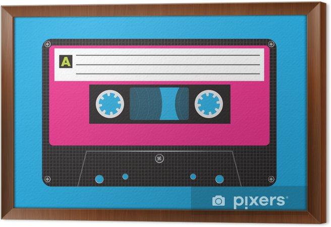 Cuadro Enmarcado Cassette retro - Estilos