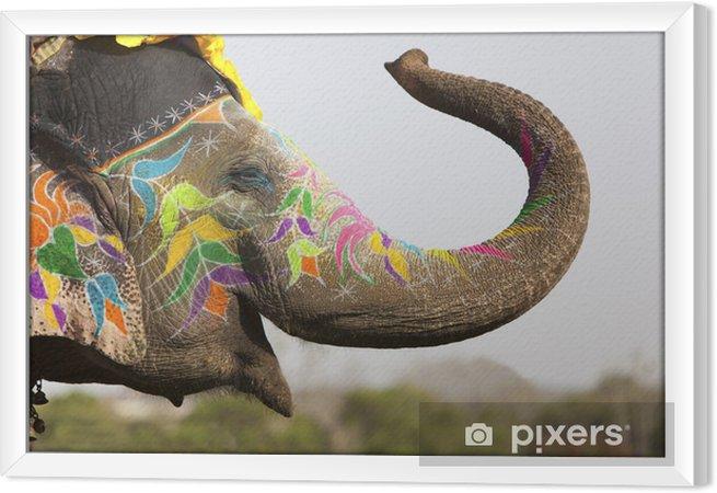 Cuadro Enmarcado Decorado elefante en el festival de elefantes en Jaipur - Asia