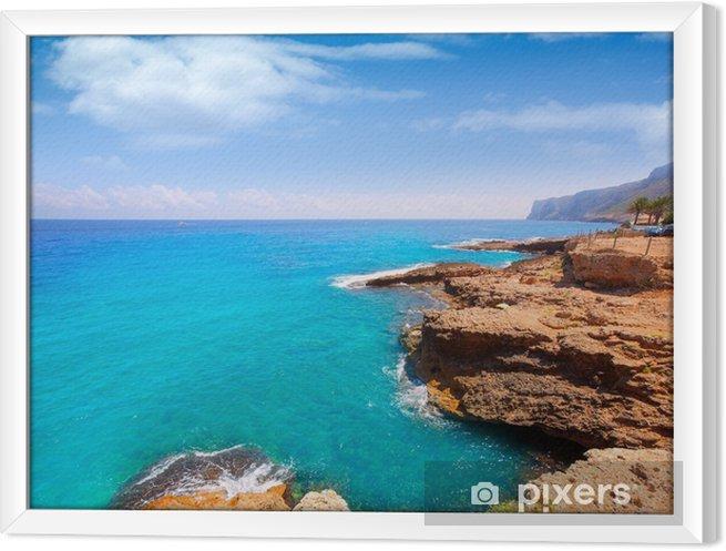 Cuadro Enmarcado Denia Alicante Las rotas rocky beach in Spain - Vacaciones