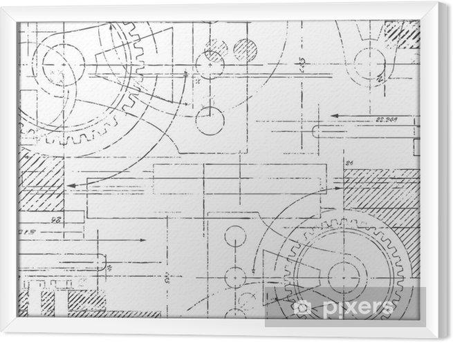 Cuadro Enmarcado Dibujo técnico - Estilos