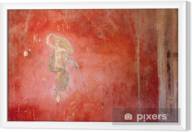 Cuadro Enmarcado Fresco en la antigua ciudad romana de Pompeya - Europa