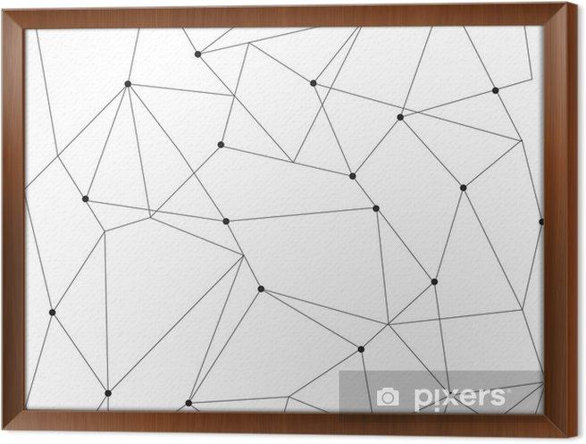 Cuadro Enmarcado Modernos patrón transparente geométrica escandinavo - Recursos gráficos