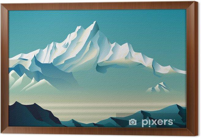 Cuadro Enmarcado Montañas nevadas Bewitching en el estilo de Roerich. - Artes y creación