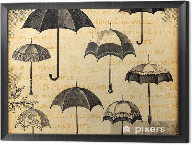 Cuadro Enmarcado Paraguas - Moda