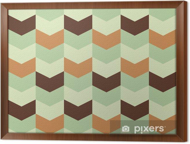 Cuadro Enmarcado Patrón geométrico abstracto retro - Abstractos