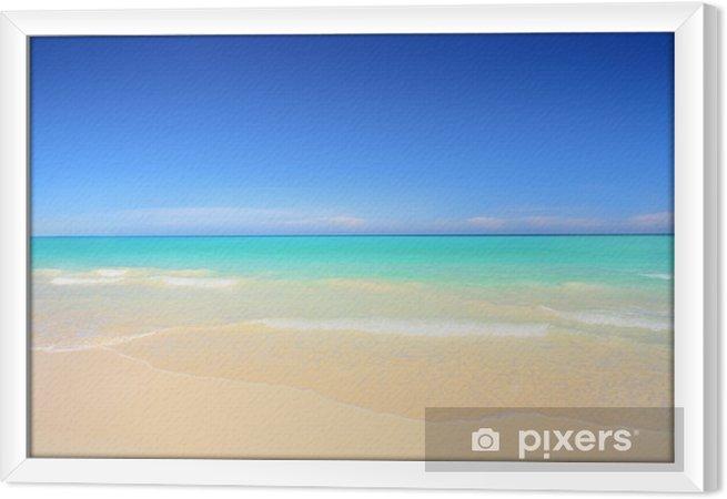 Cuadro Enmarcado Playa idílica con arena blanca y aguas azul turquesa - Temas