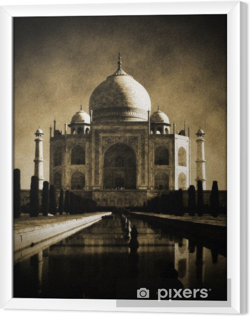 Cuadro Enmarcado Taj mahal indias agra -