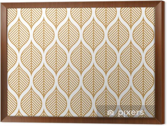 Cuadro Enmarcado Vector de patrones sin fisuras de la hoja geométrica. resumen deja textura. - Recursos gráficos