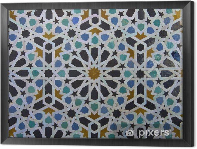 Cuadro Enmarcado Zellige marroquí del modelo del azulejo - Azulejos