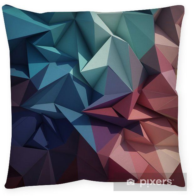 Cuscino decorativo Abstract geometric bassa sfondo poli - Geometria