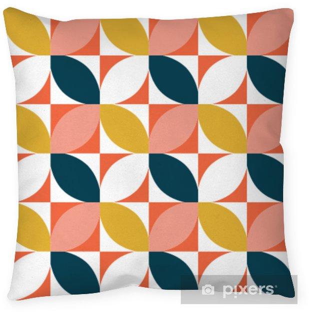 Cuscino decorativo Motivo geometrico colorato senza soluzione di continuità. stile di metà secolo. sfondo vettoriale. - Risorse Grafiche
