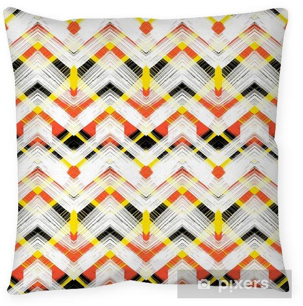 Cuscino decorativo Zigzag modello disegnato a mano multicolor - Risorse Grafiche
