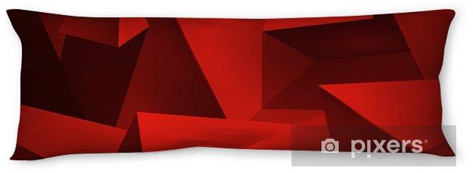 Cuscino oblungo Forme geometriche sfondo rosso, un sacco di oggetti astratti, triangoli di volume e cubi, carta da parati disegno vettoriale - Risorse Grafiche
