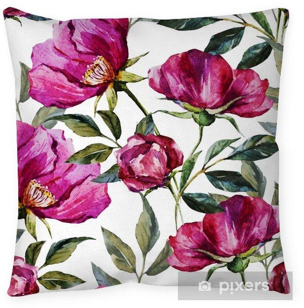 Decoratief sierkussen Aquarel bloemmotief - Bloemen en Planten