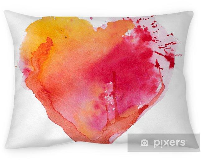 Decoratief sierkussen Aquarel hart. Concept - liefde, relatie, kunst, schilderen - Thema's