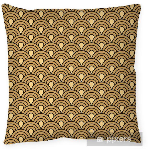 Decoratief sierkussen Art Deco naadloze vintage behang vector patroon - Achtergrond