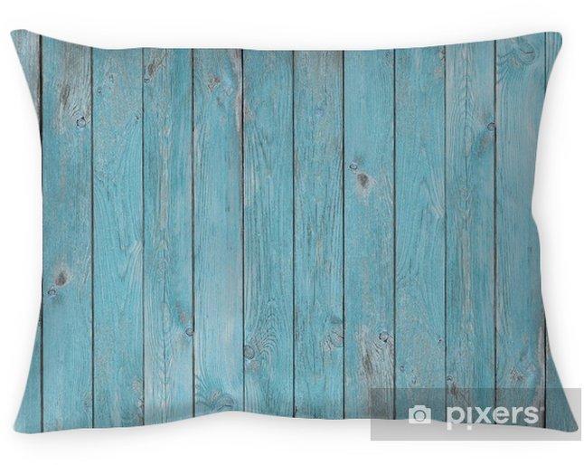 Decoratief sierkussen Blauwe oude houten planken textuur of achtergrond - Grafische Bronnen