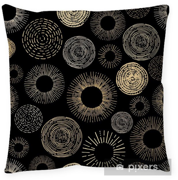 Decoratief sierkussen Cirkel naadloos patroon - Grafische Bronnen
