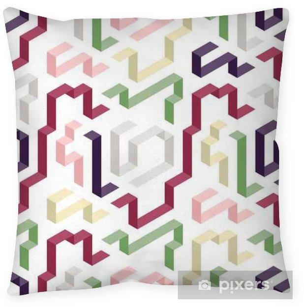 Decoratief sierkussen Color geometrisch vormpatroon - Grafische Bronnen