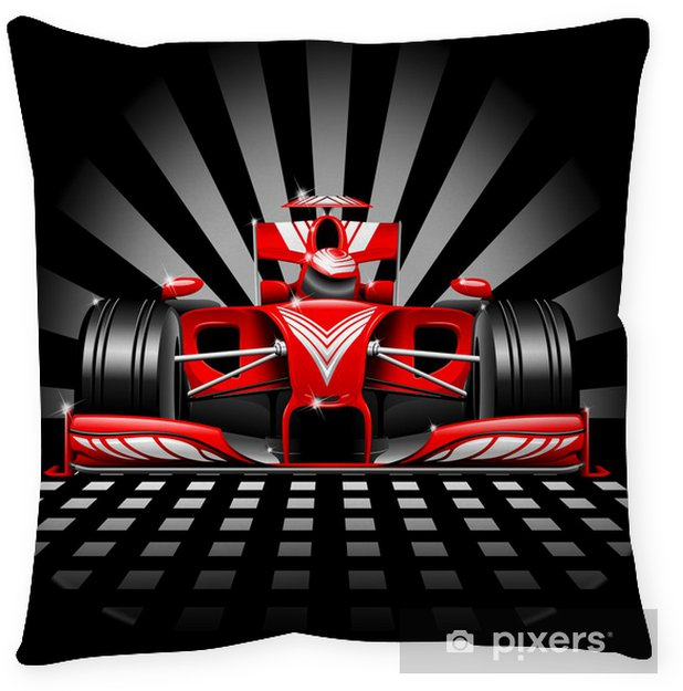 Decoratief sierkussen Formule 1 Red Race Car - Thema's