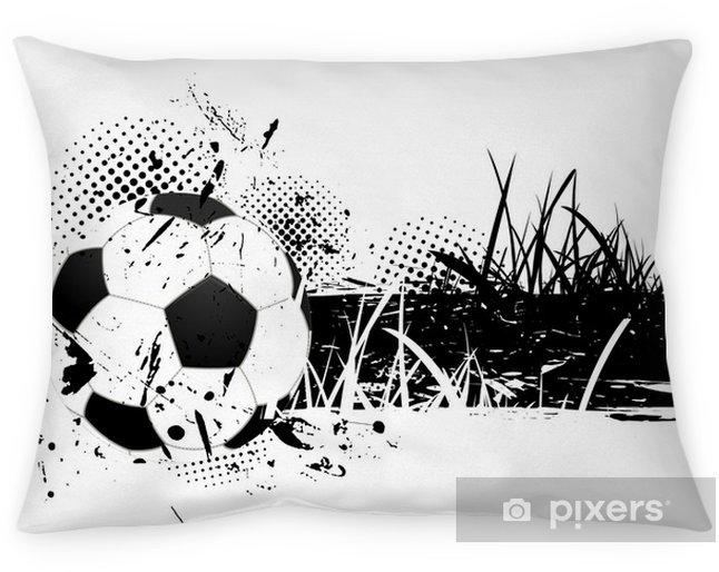 Decoratief sierkussen Grunge achtergrond met voetbal -