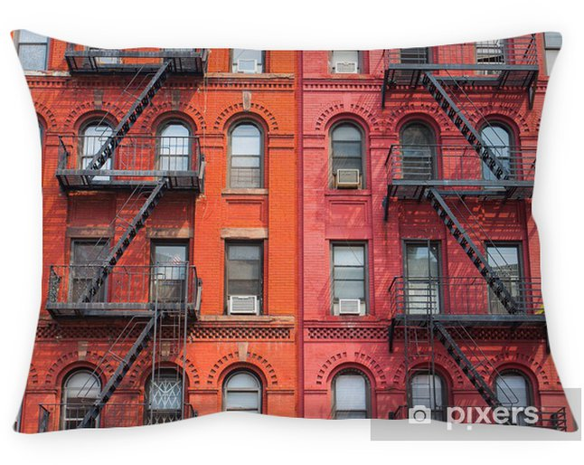 Decoratief sierkussen Het detail van New York gebouwen - Amerikaanse steden