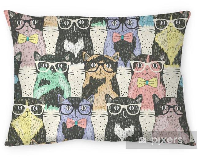 Decoratief sierkussen Naadloos patroon met hipster leuke katten voor kinderen - Bestemmingen