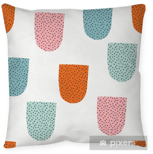 Decoratief sierkussen Naadloos patroon met moderne bloemen en abstracte elementen in verse pastelkleuren. - Hobby's en Vrije tijd