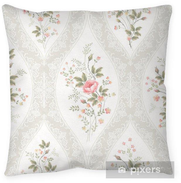 Decoratief sierkussen Naadloze bloemmotief met kant en bloemenboeket - Bloemen en Planten