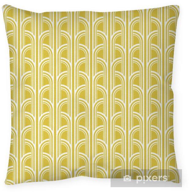 Decoratief sierkussen Naadloze vintage geometrische patroon - Grafische Bronnen