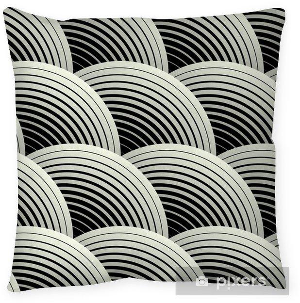 Decoratief sierkussen Sierlijke Geometrische Bloemblaadjes Grid, Abstract Vector Naadloos Patroon - Thema's
