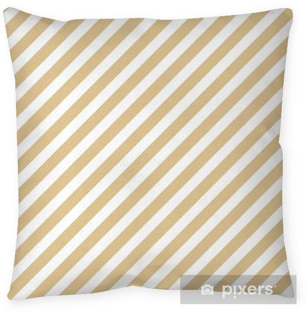 Decoratief sierkussen Streep beige naadloze patroon - Grafische Bronnen