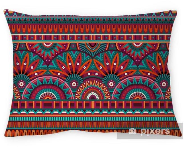 Decoratief sierkussen Tribal etnische achtergrond naadloze patroon - Grafische Bronnen