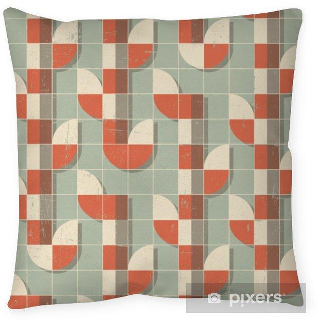 Decoratief sierkussen Vector kleurrijke abstracte retro naadloze geometrische patroon - Grafische Bronnen